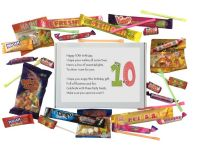 10th Birthday Sweet box-Filled with retro and modern sweets