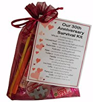 30th Anniversary Survival Kit Gift  - Great novelty present for thirtieth anniversary or wedding anniversary for boyfriend, girlfriend, husband, wife