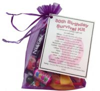 30th Birthday Survival Kit-An excellent alternative to a card