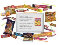 50th Birthday Sweet box with poem on lid - An excellent alternative to a card