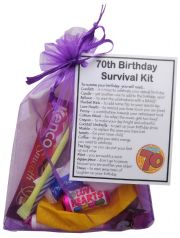 70th Birthday Survival Kit Gift -
