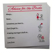 Advice for the Bride Cards - 24 cards - Hen Party Favours, Hen Party Games, Hen Night Games, Hen Party Bingo, Bridal Shower activity, Bride advice