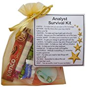 Analyst Survival Kit Gift  - New job, work gift, Secret santa gift for colleague, gift for analyst gift