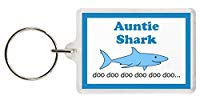 Auntie Shark Keyring - Baby Shark Parody, Excellent Christmas Gift, Stocking Filler, Auntie Gift, Aunt Gift