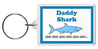 Daddy Shark Keyring - Baby Shark Parody, Excellent Christmas Gift, Stocking Filler, dad Gift, Father Gift, Daddy Gift