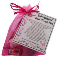 Birthday 70th Seventy Novelty Survival Kit Gift Present Organza Bag Fun Card