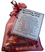 Driving Test Survival kit - Great small gift for wishing good luck for a driving test