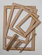 Extra Large Weaving Loom Set including four rectangular looms, large needle and 2 weaving combs. Weaving Set, Set of weaving looms -