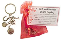 Girlfriend Survival Charm Keyring - Handmade Girlfriend Gift for Girlfriend