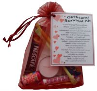 Girlfriend Survival Kit Gift - Great novelty present for Birthday, Christmas, Anniversary or just because ...