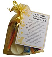 Golden 50th Anniversary Survival Kit Gift - Great novelty present ...