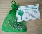 Good Luck Charm Keyring - Handmade good luck gift, lucky charm, lucky horseshoe, Good Luck gift, good luck token