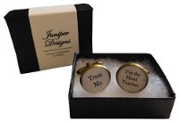"Handcrafted ""Trust Me - I'm the Head Teacher"" Cuff links - Excellent Christmas, thank you, birthday or Teacher gift"
