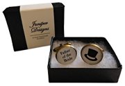 Handcrafted Father of the Bride Cuff links - Excellent Father of the Bride gift, wedding day cufflinks