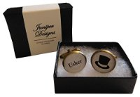 Handcrafted Usher Cuff links - Excellent Usher gift, wedding day cufflinks