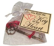 'Key to my Heart' Novelty Gift  - Great token Valentines gift for Boyfriend, Girlfriend, Wife, Husband, Fiance or Fiancee