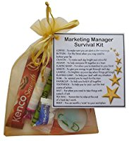Marketing Manager Survival Kit Gift  - New job, work gift, Secret santa gift for Marketing manager, Marketing Gift
