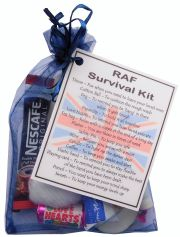 MILITARY / NAVY / ARMY / RAF Novelty Survival Kit Gift  - RAF