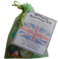 MILITARY / NAVY / ARMY / RAF Novelty Survival Kit Gift  - MILITARY