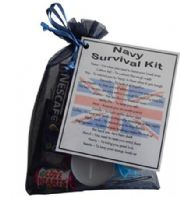 MILITARY / NAVY / ARMY / RAF Novelty Survival Kit Gift  - NAVY