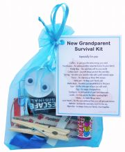 New Grandparent's Survival Kit (Blue)-Great novelty gift for a new grandparent!