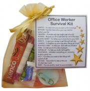 Office Worker Survival Kit Gift  - New job, Secret santa office gift for colleague