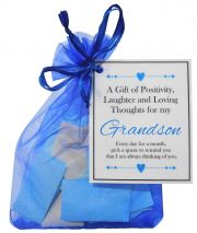 Handmade Grandson Gift Quotes of Positivity, Laughter and Loving Thoughts. 31 inspirational quotes for each day of the month. Letterbox friendly.