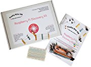 Raspberry Pi Discovery Kit - Includes 13 Projects / Tutorials, 32 Components, Solderless Circuit board, 42 page booklet. Raspberry Pi Starter Kit, Raspberry Pi Electronics Kit, RPi