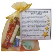 Recruitment Consultant Survival Kit Gift  - New job, work gift, Secret santa gift for colleague