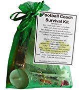 SMILE GIFTS UK Football Coach Survival Kit Gift  - Great present for Christmas, end of year or just because.