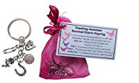 Teaching Assistant Survival Charm KEYRING - Handmade TA Gift for Teaching Assistant